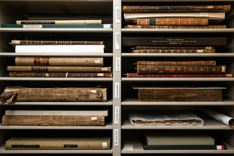 sharing treasures- old book collection at Boston Public Library