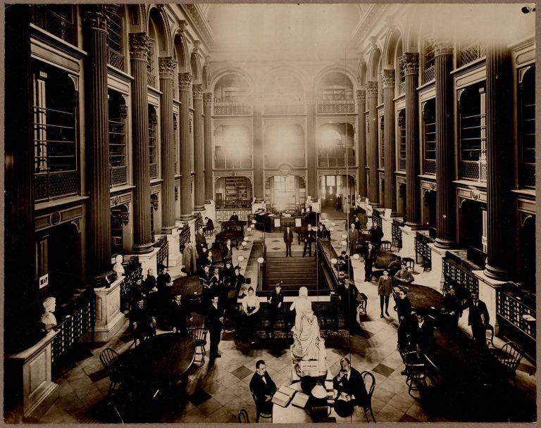 Boston Public Library, Bates Hall, 55 Boylston Street., ca. 1858
